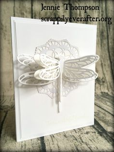 White Dragonfly - Step 2 CCREW117SIP by elliesmom - Cards and Paper Crafts at Splitcoaststampers