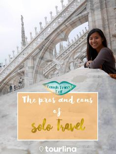 Solo Travel: There are two words that seemed to breath fear into some while others grew exhilarated by it. What makes the act of solo travel so alluring? And why, despite the fact that everyone seemed to be talking about it, are many so hesitant to do it? Let's break it down to the pros and cons!   #travel #traveltips #solotravel #solofemaletravel #wegosolo #tourlina   tourlina.com