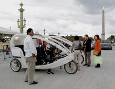 Tourist Taxi Bike - a high geared tricycle  in Paris by Poo Geok #travel #france