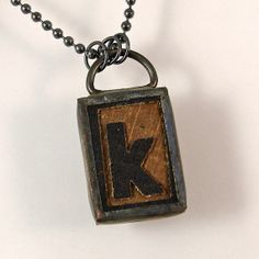 Letter K Pendant Necklace by XOHandworks $25