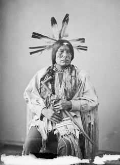 An American Indian named Eagle Man - Yanktonai Nakota 1872.