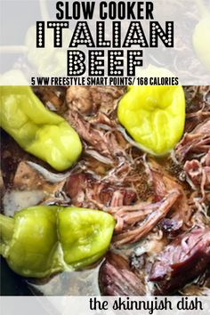 Making this Slow Cooker Italian Beef insures that you will have an easy and delicious dinner that is Italian Roast Beef, Italian Beef Recipes, Slow Cooker Italian Beef, Italian Beef Sandwiches, Roast Beef Sandwiches, Healthy Sandwiches, Ww Recipes, Slow Cooker Recipes, Crockpot Recipes