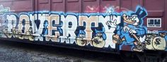 Poverty. Train. Graffiti. Train Art, Subway Art, Street Art Graffiti, Macabre, Murals, Brother, Artsy, Usa, History