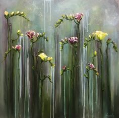 Handmade Oil Painting Print Floral Print Print Art Canvas - Rosie Home Oil Painting On Paper, Oil Painting Flowers, Painting Frames, Painting Prints, Art Oil, Painting Art, Painting Walls, Painting People, Texture Painting
