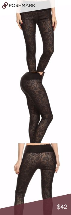 NOW AVAILABLE!!! Floral Paisley print FAUX FUR lined leggings. Very Thick, Soft, Warm, Stretchy Comfortable, Perfect for the Fall/Winter Season.   92% POLYESTER 8% SPANDEX Pants Leggings