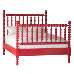 The Harriet Spindle Bed by The Beautiful Bed Company is a real statement piece, with intricately turned rail and post spindles on both the headboard and footboard.