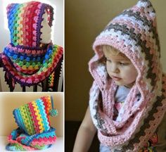 Crochet Hooded Cowl - Free Pattern