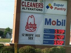 Curiosities: Funny Fast Food Signs