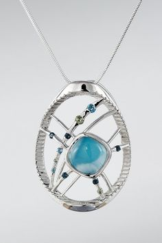 Larimarket - MarahLago Aquila Larimar Necklace with Blue Topaz