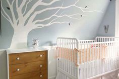what a darling baby room... needs a wee bit more color though.