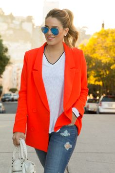 Polished casual look.