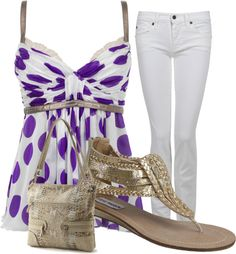 Purple Polka Dots!, created by dlmay98 on Polyvore