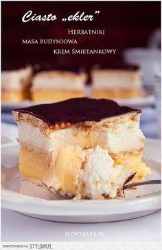 Ciasto bez pieczenia Ekler na Stylowi.pl