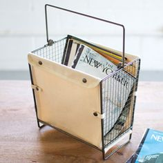 Canvas Magazine Basket