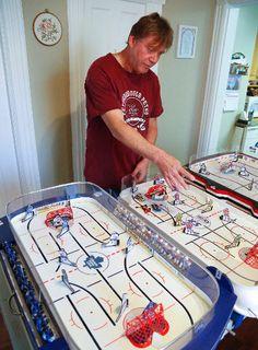 PTHA Prez and SK Mini Rink creator Sid...Ontario table hockey Google it! Wayne Gretzky, Hockey Games, Old Games, Ontario, Eagle, Kids Rugs, Play, Mini, Sports