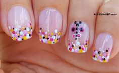 Dotting Tool #Summer #Frenchmanicure With Dot #Butterfly