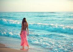 beach, walking on the beach, waves