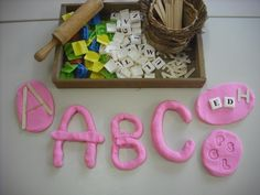 Literacy and playdough from An Idea on Tuesday