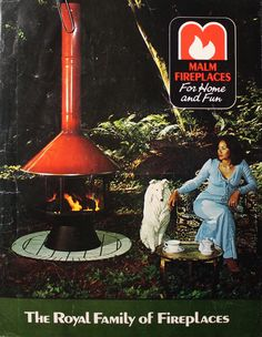 Vintage Fireplace Majestic Malm Preway Retro 60's 70's | outdoor ...