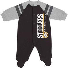 8d267534691f0 Picture of Pittsburgh Steelers Infant Longsleeve Sleep n Play Creeper  Steelers Team, Steeler Nation,