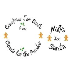 SVG - Cookies for Santa Plate Edge - Cookie Plate Design - Christmas Plate Design - Carrots for the Reindeer - Gingerbread Man - Santa Christmas Craft Fair, Christmas Plates, Christmas Svg, Christmas Decorations To Make, Christmas Projects, Christmas Goodies, Circuit Projects, Vinyl Projects, Cookies For Santa Plate