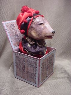 Norma Decamp Bear Jack in The Box Small Lamb Jack in Box Collectable Come See   eBay
