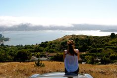 """Sometimes Stinson takes in the views and asks, """"Oh Lord, won't you buy me a Mercedes Benz?"""" #NorthBayLife"""