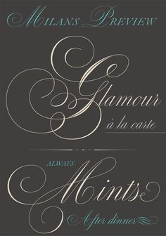 #Medusa, a new #script font by ReType. #Copperplate  #Typography