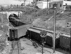 An undated post-WW2 photo of a derailment at Baltiimore's Fulton Junction. Apparently the CB&Q's former troop sleeper express car wanted to take a side trip on the W M instead of staying with its train on the PRR.