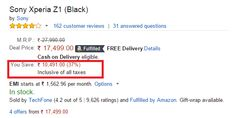 Save Rs 10,000 on Sony Xperia Z1 in Amazon!