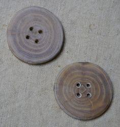 Schöne Holz Knopf Knöpfe 3,8cm 38mm 5 Stück NEU Braun