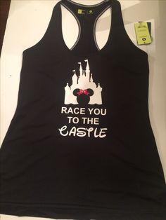 Disney castle marathon vinyl shirt