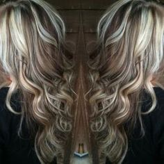 Blonde highlights with chocolate brown lowlights by Mel David