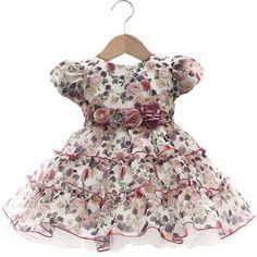Vestido Maria Luiza Florido Pink - Beth Bebê