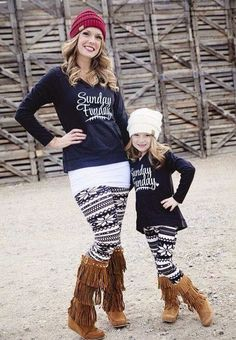 59265316a6 Mommy and Me Sunday Funday Hoodie Black - Ryleigh Rue Clothing by Modern  Vintage Boutique