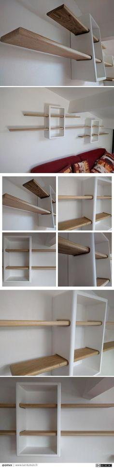 Escaliers niveau Wildeiche plan de travail de Rénovation Étape rayonnages 40 mm Brut