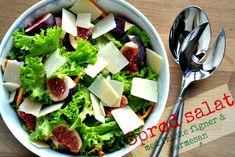 Salat med friske figner og parmesan