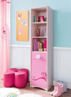 Estantería de la serie Princess de Cilekspain, dormitorios temáticos. Un lugar donde guardar todas las cosas ordenadamente.