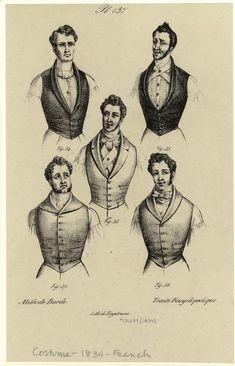[Men wearing vests, France, 1834.] Men -- Clothing & dress -- France -- 1830-1839