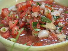 Fresh Salsa with Honey    • 4 tomatillos  • 4 vine-ripened tomatoes  • 1/2 yellow onion  • 1 celery rib, thinly sliced  • 2 jalapeño peppers  • 4 garlic cloves  • 1 bunch cilantro  • 1-tablespoon cumin  • 1-tablespoon honey  • 1-teaspoon salt  • 1-tablespoon lime juice