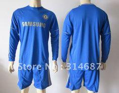 50947e4b88b Wholesale 12-13 Chelsea home blue long sleeve soccer jersey