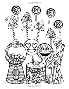 Emoji World Coloring Book: 24 Totally Awesome Coloring Pages Emoji Coloring Pages, Cute Coloring Pages, Adult Coloring Pages, Coloring Pages For Kids, Coloring Sheets, Coloring Books, Kids Colouring, Emoji Craft, Kawaii Doodles