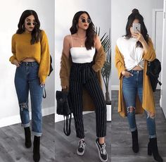 Spring outfits ideas for Cute casual outfits Edgy Outfits, Winter Fashion Outfits, Mode Outfits, Simple Outfits, Classy Outfits, Look Fashion, Fashion Mode, Classic Fashion, Girl Fashion