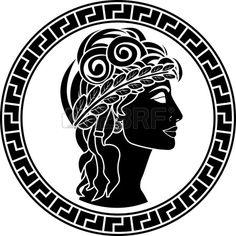 pochoir noir des femmes patriciennes premi re variante illustration vectorielle Banque d'images