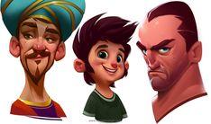 Character Design , Hossein Ojaghi on ArtStation at https://www.artstation.com/artwork/Y3PQd