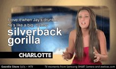 Take a look at this TV moment from zeebox.com: Geordie Shore S3 E5: 'Silverback gorilla' #GeordieShore