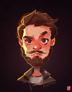 ArtStation - Male Portrait, Vince Ruz