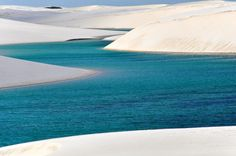 Wüste Lencois de Maranhensis , Brasilien