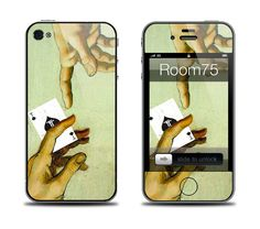 Michelangelo Poker Iphone 4/4s/5 Samsung Galaxy S3 Skin by Room75, $8.99