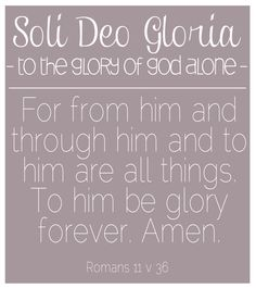 Reformation Day {soli deo gloria}